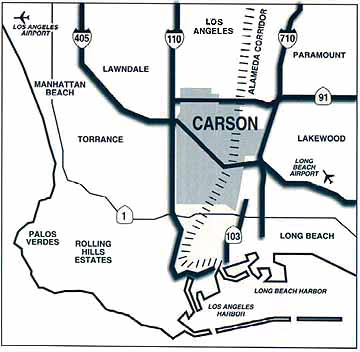 Map of Carson